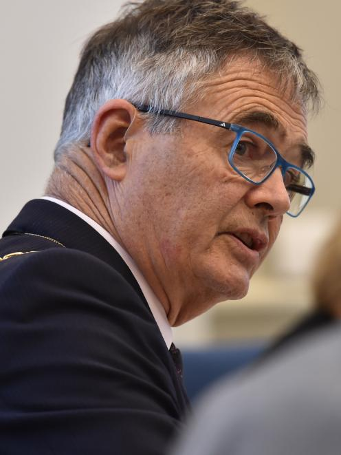 Mayor Dave Cull speaks during deliberations on the Dunedin City Council 10-year plan yesterday.