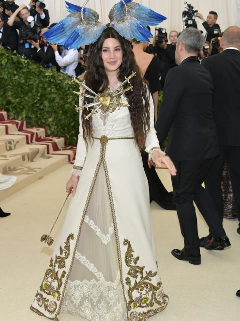 Singer-songwriter Lana Del Rey arrives at the Metropolitan Museum of Art Costume Institute Gala...