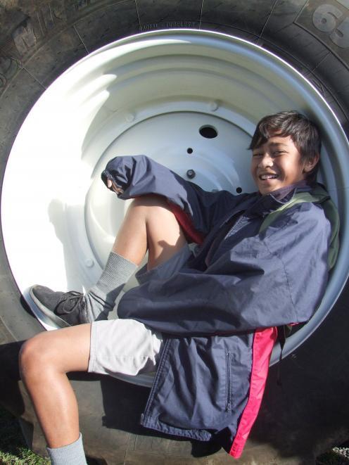 Pasa Lafoou (12) from Oamaru Intermediate School attends an Agrication day at Waitaki Boys' High...