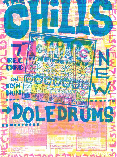 The Chills' Doledrums advertisement from 1984. Photo: Bruce Russell collection/ Hocken posters...