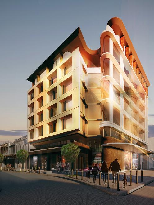 An artist's impression of the planned new HRW building on the corner of Esk and Dee Sts as part...