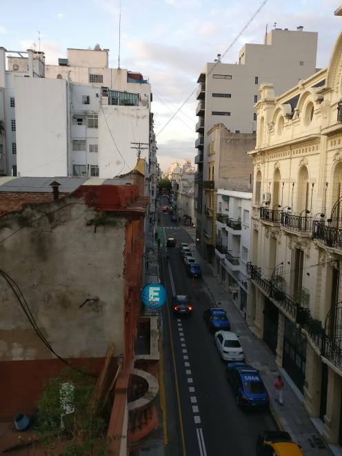The view from former Alexandra man Ben Whitaker's third floor apartment stretches through high...