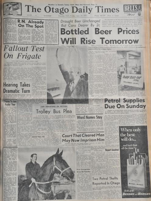 Forty-five years ago today: The front page of the ODT on Friday June 29, 1973. It's good to see...