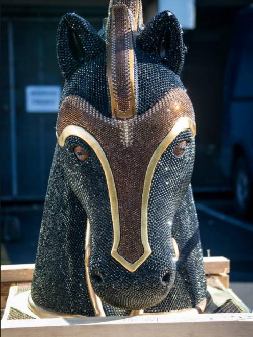 Some 35kg of cocaine was hidden inside this diamante-encrusted horse head from Mexico. Photo: NZ...