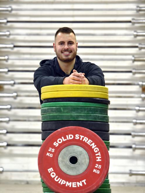 Josh Homersham is preparing to head to New Caledonia for his second Oceania weightlifting championships. Photo: Peter McIntosh