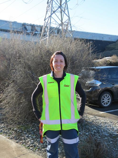 Contact Energy's Jennifer McLean, an electrical generation technician at the Clyde Dam, is...