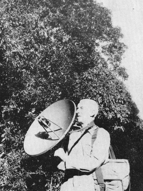 Bruce Barnett, of Taieri Beach, found this photograph of his father, Frank, recording bird song for the old New Zealand Broadcasting Service. The photo was in a 1960 school publication.