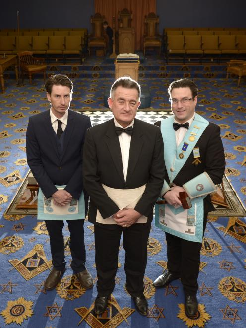 On the encouragement of his sons Daniel (left) and Jonathan, Chris Laird has recently become a Freemason. Photo: Gerard O'Brien