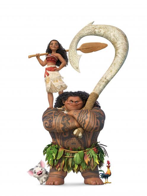 Moana和Maui,2016年电影Moana的主角。照片:迪士尼