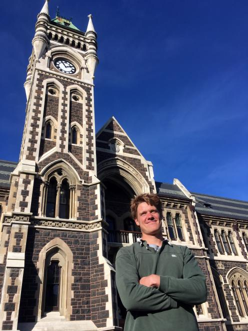 University of Otago student Jonah Belk has returned to Dunedin after representing New Zealand in the ActInSpace international finals in France. Photo: Shawn McAvinue