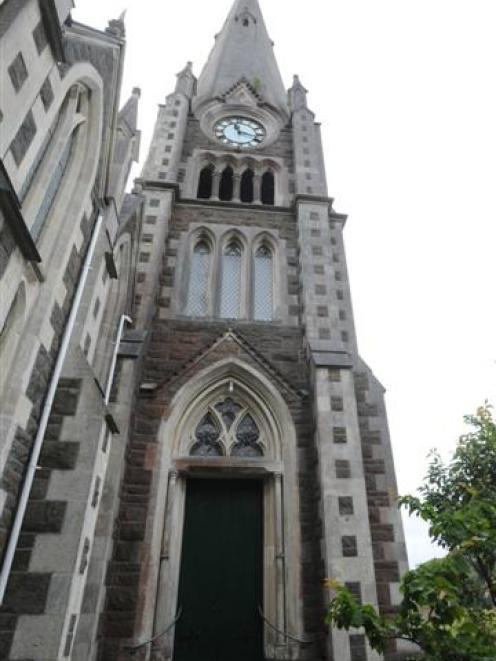 教堂的外观。