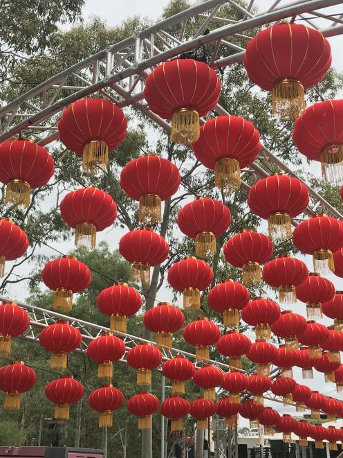Lanterns light up the streets to mark the lunar new year.