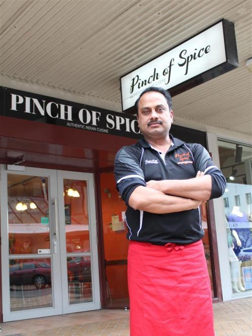 Pinch of Spice owner Manish Singh.