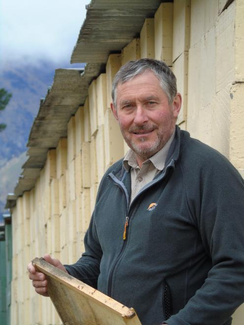 Commercial beekeeper Peter Ward, of Hawea Flat, is a member of the Southern Beekeepers Discussion Group, which has been given funding from the Sustainable Farming Fund to develop and trial new tools to detect bee disease American foulbrood. Photo: Simon H
