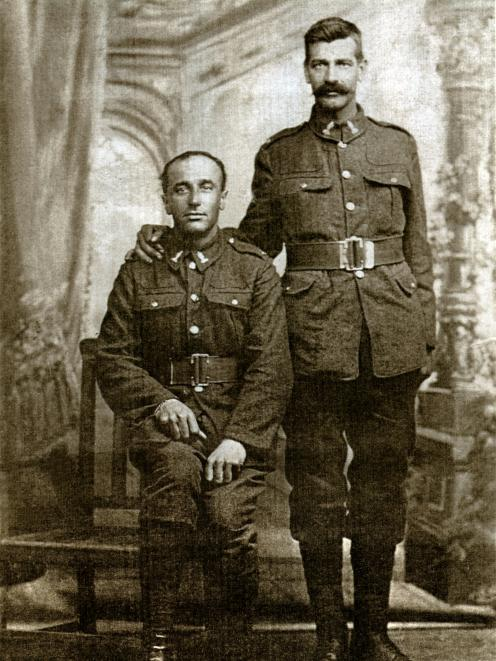 Sergeant Dick Travis (left) with one of his proteges, Corporal Robert Hill. Photo: Toitu Otago...