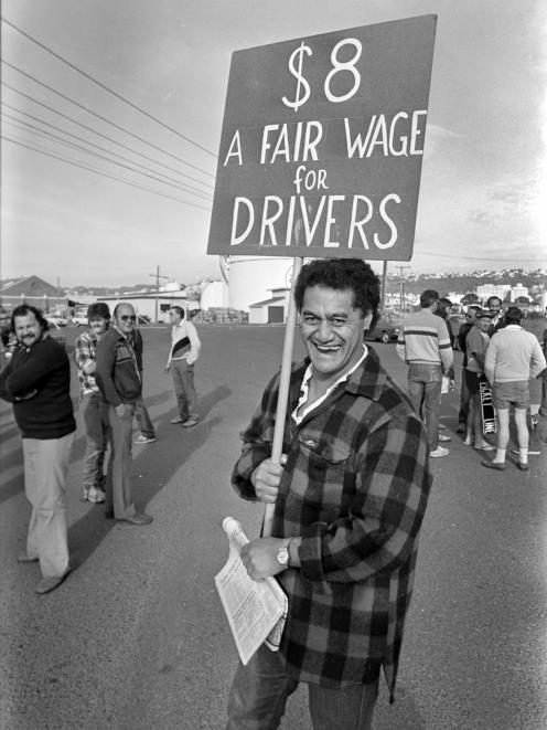 Drivers in 1988 were striking for a better rate of pay. Photo: Dave Swan