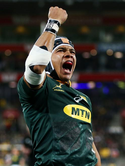 Cheslin Kolbe celebrates a famous win. Photo: Getty Images