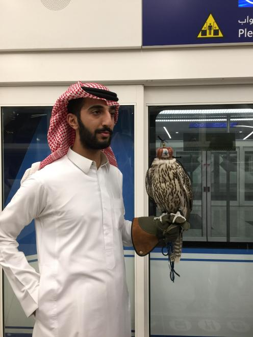 A Saudi Arabian man with a falcon. Photo: Deborah Heron