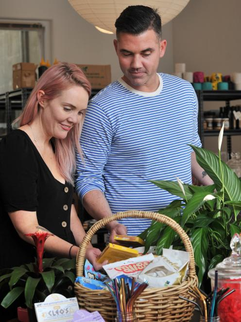 Penelope Baldwin and partner Nick Maguire set up their vegan grocery store.