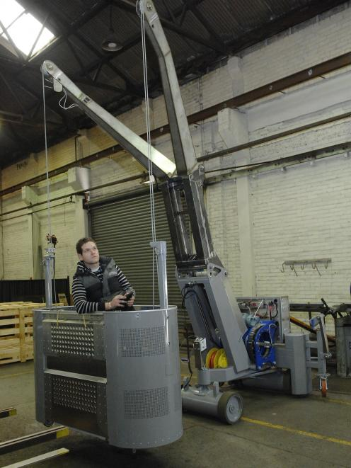 But expectations of strong growth; pictured, a portable building maintenance unit in Farra's...