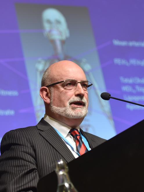 University of Otago Prof David Baxter addresses a Physiotherapy New Zealand national conference...