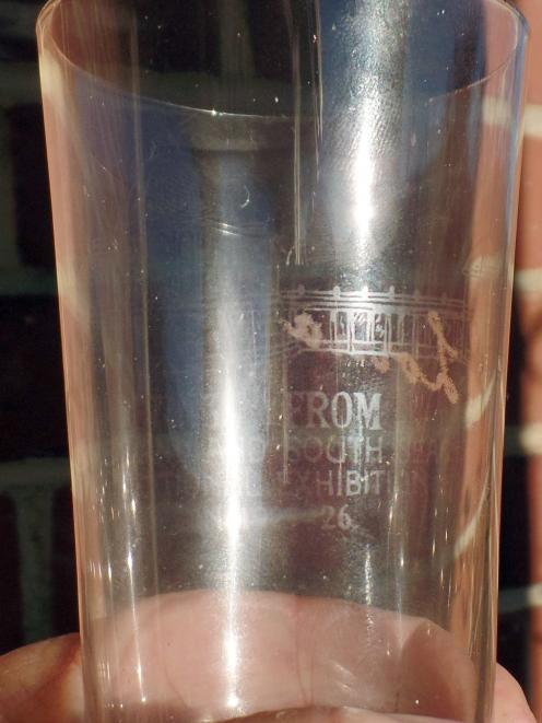 More goodies from the event, this time a souvenir glass with an etching of the exhibition...