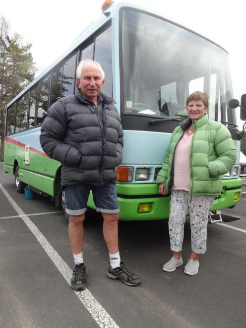 John and Sylvia Bartlett, of West Melton, Christchurch, with their 1995 Hino bus which they...
