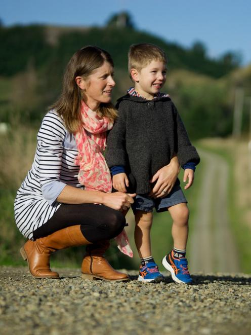 Nadine Tomlinson and her son, Angus (3), who both died on the family farm on Sunday. PHOTO:...