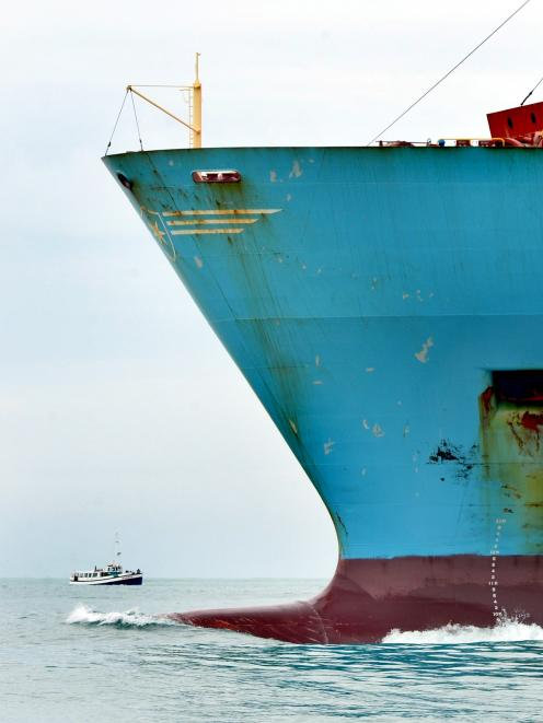 Maersk container ships such as  Maersk Brani, pictured, will be replaced by Rio-class vessels...