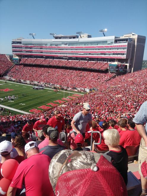 Members of Irrigation New Zealand's tour and another 90,000 people attended a Cornhuskers...