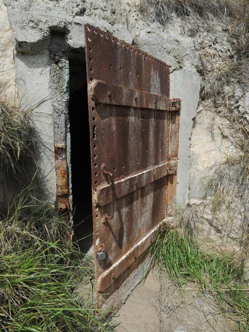 The door to a cave in Shore St, Dunedin. PHOTO: ODT FILES