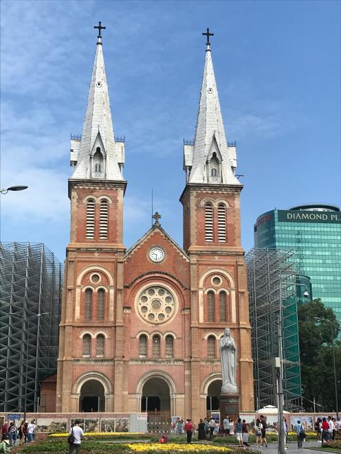 Notre Dame Cathedral and other old buildings in Ho Chi Minh City are an enduring reminder that...