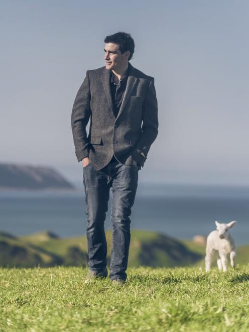 Kurt Portas, of Palliser Ridge, wears one of the new M&S range of lambswool blazers. He manages a farm in the Wairarapa which is the first of fourteen Wools of New Zealand shareholder farms to be certified. Photo: Supplied