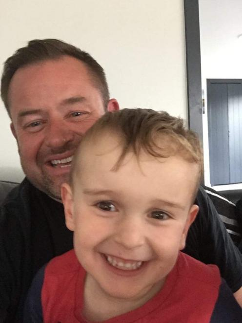 Married at First Sight participant Dave McClelland gave his wedding ring to the Finch family to auction, in the hopes of raising enough money so Harry (3) can have surgery in America to help him walk. Photo: Supplied