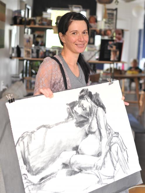 Life drawing model Rhia Robb. PHOTO: CHRISTINE O'CONNOR