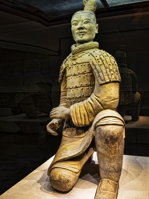 Kneeling archer from the Qin dynasty (221-206BC) on loan from Emperor Qin Shihuang's Mausoleum Site Museum. Photo: Getty Images
