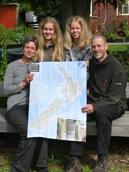 Back on dry land after eight months' sailing around New Zealand, the Haase family (from left)...