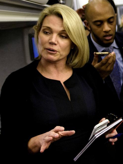 State Department spokeswoman Heather Nauert. Photo: Reuters