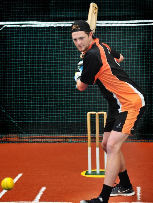 Corey Perrett shows his skills at Metro Indoor Sports in Dunedin yesterday. PHOTO: CHRISTINE O...