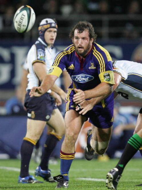 Carl Hayman in action for the Highlanders against the Brumbies at Carisbrook in May 2007. Photo:...