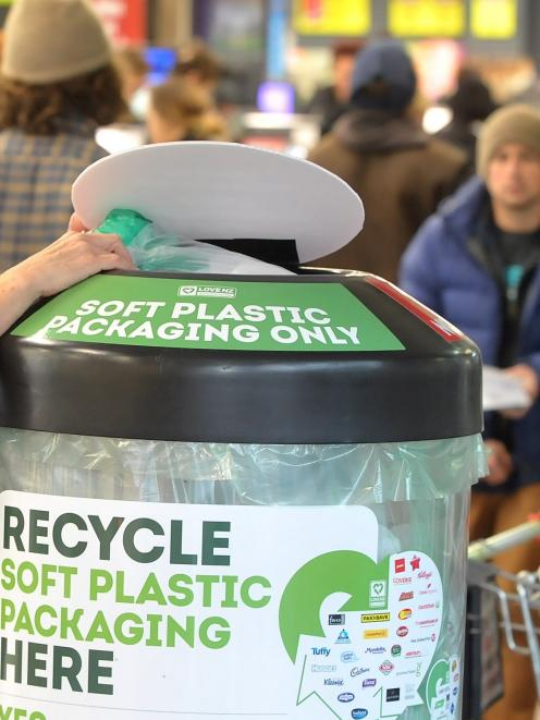 The soft plastic recycling scheme, run by the Packaging Forum, has been operating since 2015 and now covers about 70 percent of the country. Photo: Christine O'Connor