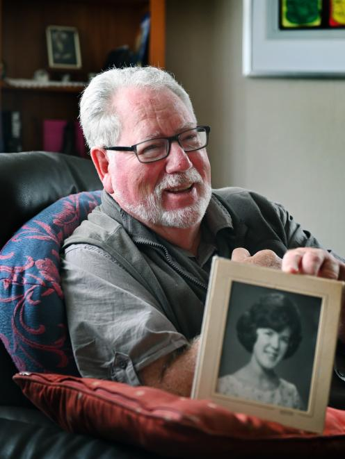Tainui man Tom Keene, whose wife, Joan, is in care due to dementia. Mr Keene  holds a picture of...