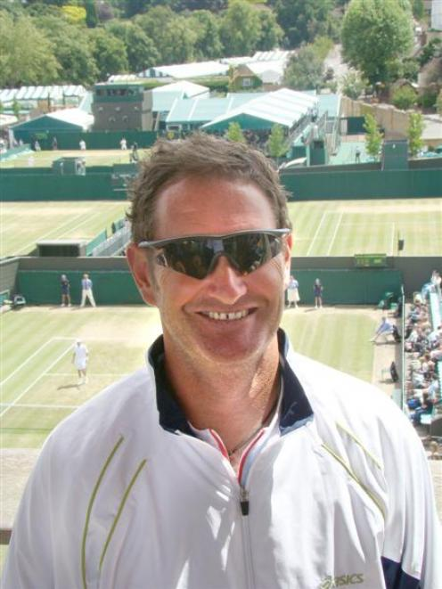 Former Dunedin tennis coach Neil Carter takes in  the sights at Wimbledon. Photo by Ben Fahy.