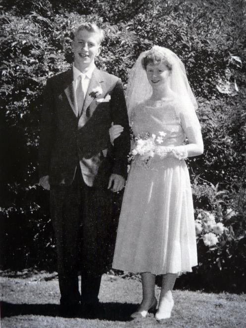 The Hattrills on their wedding day, February 14, 1959. Photo: Supplied