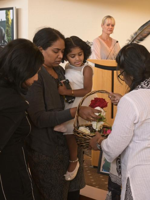 Nisha Hareesh and daughter Gowri say goodbye to husband and father Hareesh Gangadharan, who died...