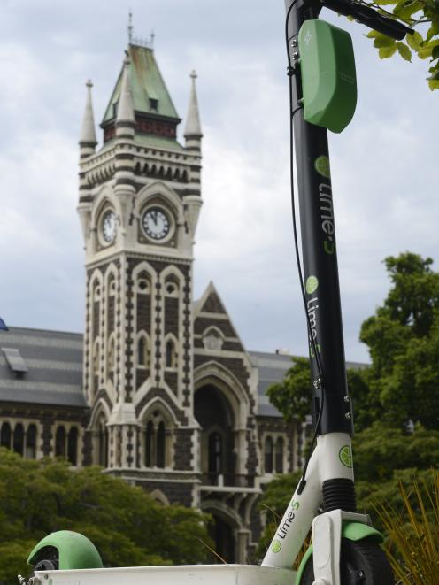 Lime scooters will not be on Dunedin streets. PHOTO: GERARD O'BRIEN
