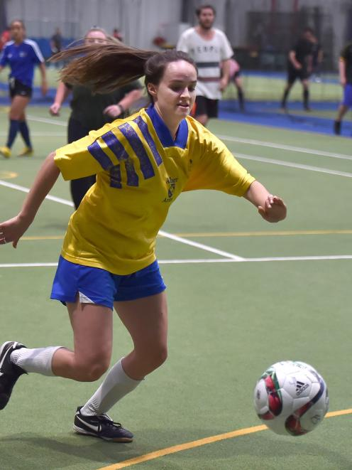 Megan O'Malley is one of the many players who now enjoy a regular game of futsal. Photo: Gregor Richardson