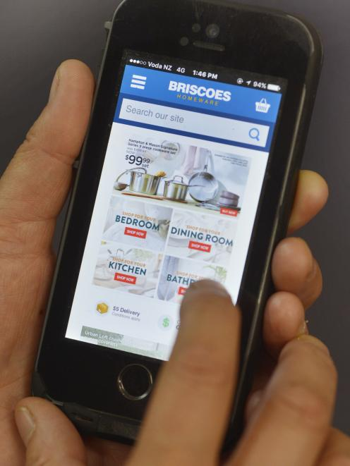 Briscoes online sales rose 27% during the year and should receive a further boost when its revamped online platform is launched later in the year. Photo: Gerard O'Brien