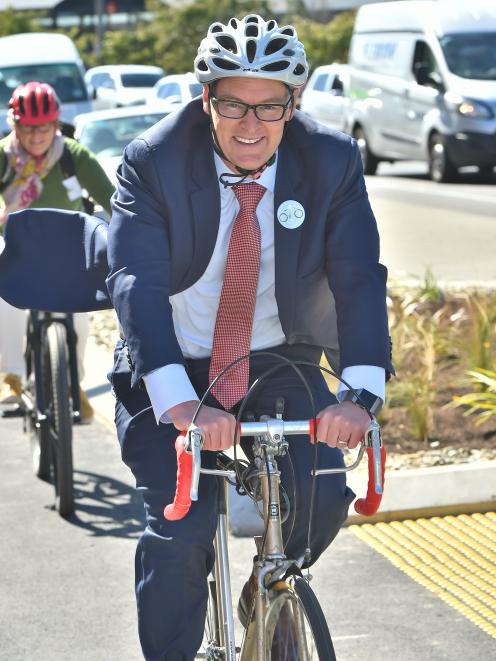 Dunedin North Labour MP David Clark  attended the opening of Dunedin's cycle lanes yesterday. ...