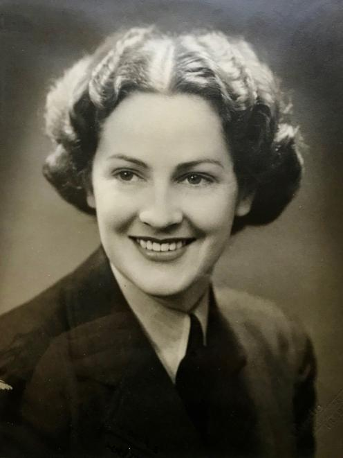 Evelyn Bovett joined the Women's Auxiliary Air Force during World War II.
